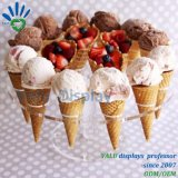 Custom акрилового пластика мороженое конуса подставка для дисплея мороженое внутреннее кольцо подшипника держателя
