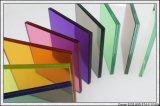 착색한 색을 칠한 단단하게 한 Tempered 안전 PVB에 의하여 박판으로 만들어진 건축 유리를 지우십시오