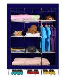 De moderne Eenvoudige Stof die van het Huishouden van de Garderobe de Eenvoudige Garderobe van de Combinatie van de Versterking van de Grootte van de Koning van de Assemblage van de Opslag van de Afdeling van de Doek (fw-46B) vouwt