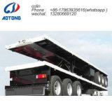 Venta caliente 3 ejes del remolque/plana de 40 pies de cama alta remolque remolque/contenedor