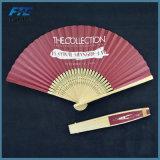 Ventilatore tenuto in mano piegante stampato maniglia di bambù su ordinazione