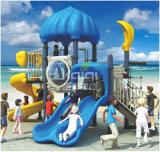 Kleines Kaiqi Kind-Vergnügungspark-Plastikschloss-im Freienspielplatz-Geräte mit Plättchen und Bergsteiger