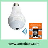 Uma segurança Home panorâmico sem fio de 360 graus do IP de WiFi da câmera da ampola do diodo emissor de luz