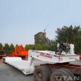 Welle des Titan-3 60 Tonnen-hydraulischer vorderes Laden-niedriger Jungen-abnehmbarer Gans-Stutzen-niedriger Ladevorrichtungs-halb LKW-Schlussteil-Preis