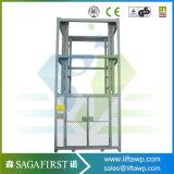 levage vertical de cargaison de plate-forme de levage de cargaison de fret ferroviaire de guide de 3m