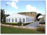 A barraca grande a mais nova do casamento da decoração para o copo de água em África do Sul