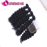Meilleure vente profonde de Tissage de cheveux malaisien d'onde de 100 % Cheveux humains