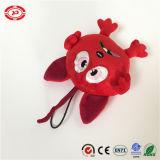 Colore rosso tutto il giocattolo molto piccolo Freaking di Keychain della peluche farcito emozione della testa