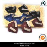 사다리꼴에 의하여 분단되는 테라조 가는 금속 노예 다이아몬드
