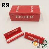 Un sin refinar más rico/Brown/papel sin refinar de consumo de tabaco del cáñamo