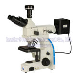 Microscopio metalúrgico binocular del laboratorio (LM-202)