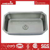 Acier inoxydable 31-1/2 x 18 sous le bassin de cuisine simple de cuvette de support