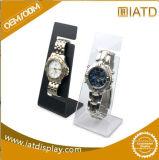 Étalage en bois de mémoire de montre de guichet de montre d'étalage acrylique noir simple