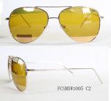 Novo Design Lentes revestidas de metal piloto especiais unissexo para óculos de sol