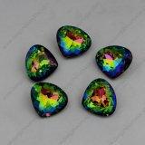 Parels van de Bergkristallen van de Stenen van het Punt van de Kleur van de regenboog de Achter Buitensporige voor Juwelen