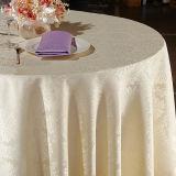 Toalha de mesa de poliéster de linho de restaurante / capa de mesa