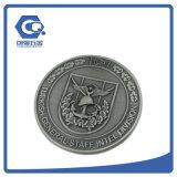 Personalizado morrer a moeda comemorativa do metal do projeto da carcaça 3D