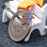 Medaglia vuota su ordinazione Bronze antica di maratona del metallo con smalto