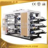 Máquina de impressão de flexografia de alta velocidade de seis cores