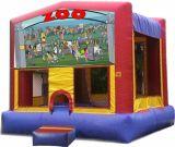Castello gonfiabile Colourful su ordinazione di ostacolo del giardino zoologico del fumetto per divertimento