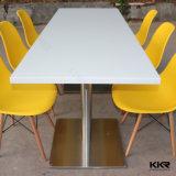 Pierre artificielle Surface solide restaurant Round Table à manger