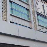 Panneau de mur en aluminium de regard de forme de rectangle de construction plate d'effet