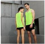 Het zuivere Groene Vest van de Gymnastiek van Mens van het Overhemd van de Geschiktheid van de Kleur Sneldrogende Sleeveless