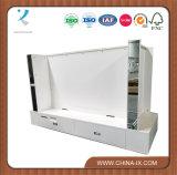 Gabinete para aparelho de televisão com gaveta e espelho