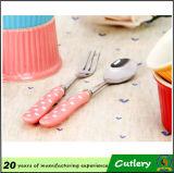 Manija de cerámica Cuchara Cuchillo Forks cubertería