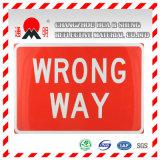 Покрывать голубой промышленной марки отражательный для знаков уличного движения дороги направляя знаки
