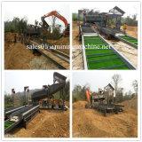 Equipamentos de mineração de minério de ouro aluvial Trommel Lava Portátil