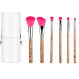 Conjuntos de maquiagem Kit de escovas de Cosméticos Profissional Face Blend Brow corar de lábios escovas de carvão 7 PCS