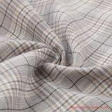 Fils teints plaid de polyester et de tissu de coton