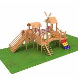 カスタム小さい木製の運動場の家、木製の小さい屋外の運動場