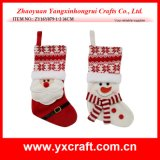 Подарок рождества украшения рождества (ZY14Y302-1-2-3) запаша Handmade продукт деталя носка