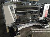 Máquina vertical de rebobinado de corte longitudinal