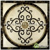 Medaillon van de Honingraat van het Patroon van het Mozaïek van de Straal van het water het Marmeren