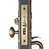 Singola serratura di mortasare del cilindro di alta obbligazione Handleset in ottone antico