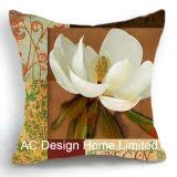 Классический квадратных Tulip Дизайн ткань подушка с заполнением