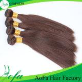 Русый бразильский людской уток человеческих волос волос Remy