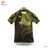 Healong Venda superior totalmente Camisa de Rugby de sublimação de tinta