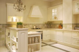 Mobilia bianca della cucina del PVC di nuovo disegno 2017 (zc-048)