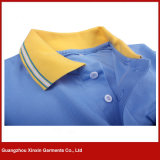 Colar do jacquard dos homens personalizados da alta qualidade/camisa polo dos punhos (P180)