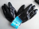 Перчатки работы безопасности нитрила раковины полиэфира покрытые (N2405)