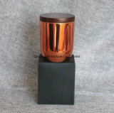 Heiße Verkaufs-kupferne Glas-Rosen-Goldglas-Kerze