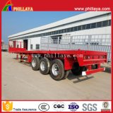 3-Tri-Axle 20-40FT 40-60ton caminhão plataforma High-Bed Recipiente de mesa semi reboque