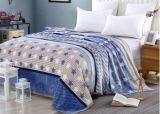 Épaississement simple, double, grande couverture estampée de polyester de couverture de flanelle (SR-B170316-14)