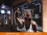Intérieur extérieur transparent / verre / fenêtre LED écran vidéo / panneau / panneau / mur