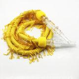Boyau en caoutchouc jaune propice de narguilé du modèle 1.5m Shisha de dragon (ES-HH-002-1)