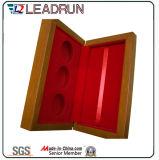 硬貨のバッジボックスビロードの挿入(Bc375)のための木箱